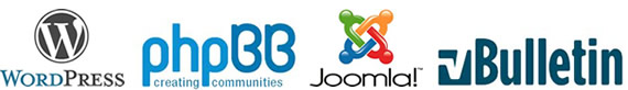 Wordpress, Joomla, vBulliten PHPbb supported webhost